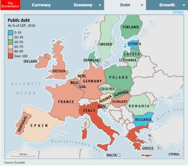 Debito pubblico confronto europeo