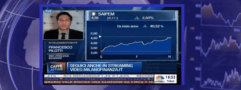 Calma piatta sui mercati e l'oro ritraccia leggermente. Saipem brilla grazie ai risultati del 2018