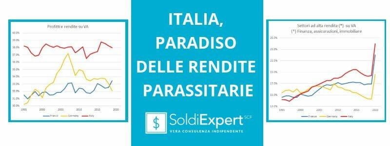 Italia, paradiso di rendite parassitarie